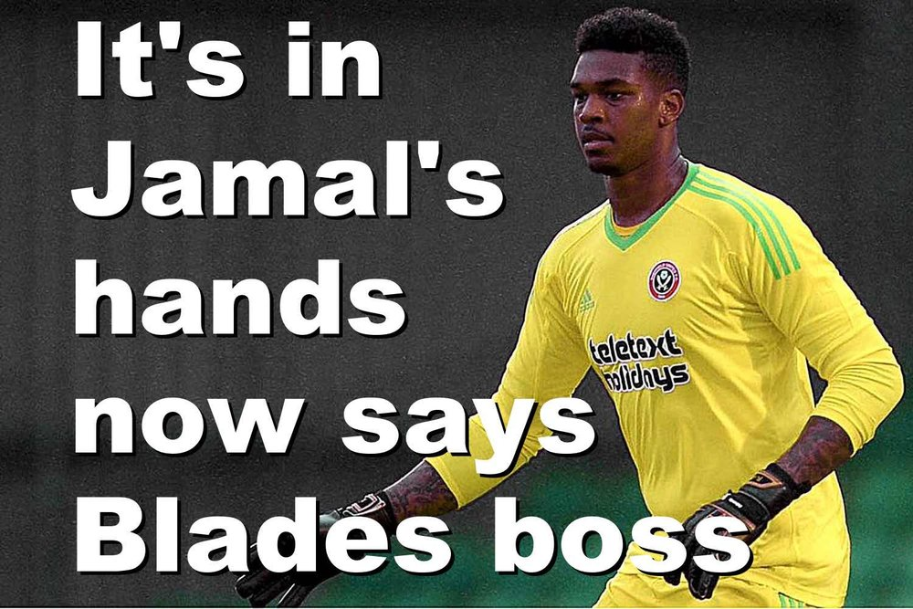 Sheffield United's on-loan goalkeeper Jamal Blackman has every chance of claiming No1 jeresy says Blades boss Chris Wilder