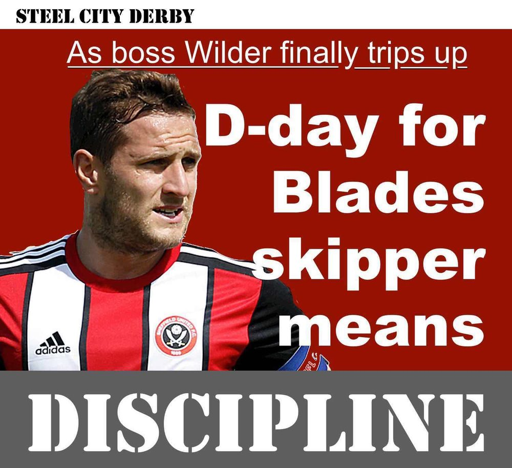 D-day for Sheffield Unied skipper Billy Sharp means discipline as Blades head to Hillsborough for Steel City derby