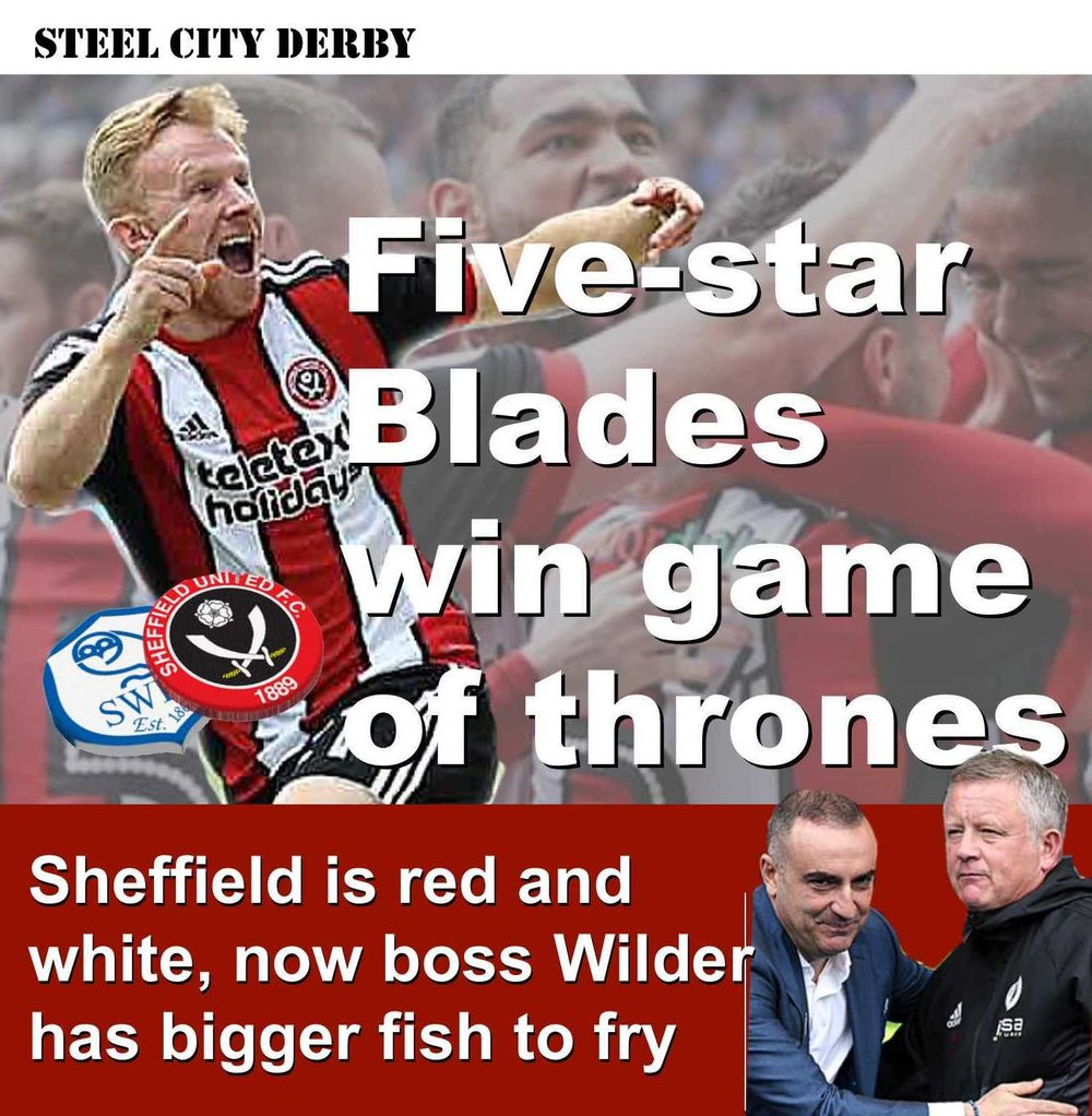 Five star Sheffield United make statement of intent with demolition of neighbours Sheffield Wednesday at Hillsborough