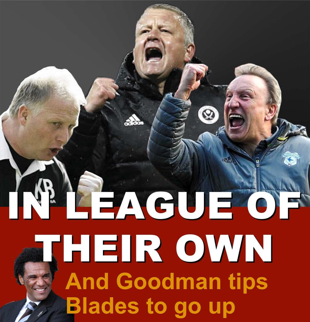 Chris Wilder and former Sheffield United bosses Neil Warnock and Chris Wilder in league of their own
