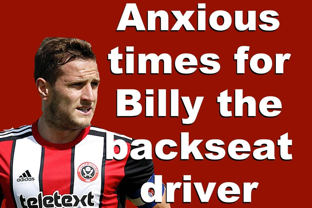 Is Sheffield United striker Billy Sharp in danger of becoming a backseat driver for the Blades at Bramall Lane?