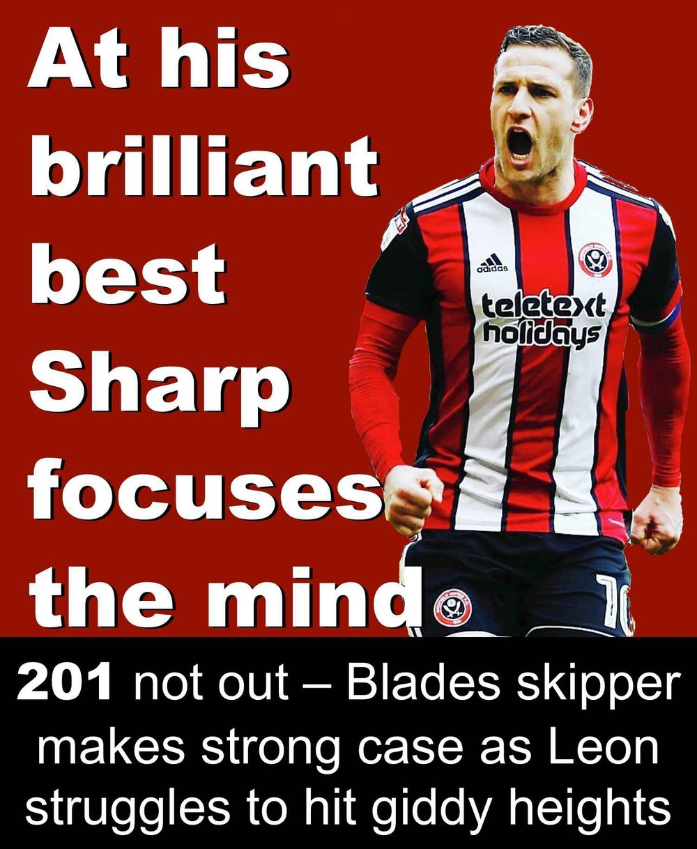 Sheffield United striker Billy Sharp at brilliant best gives Bramall Lane boss Chris Wilder plenty to think about