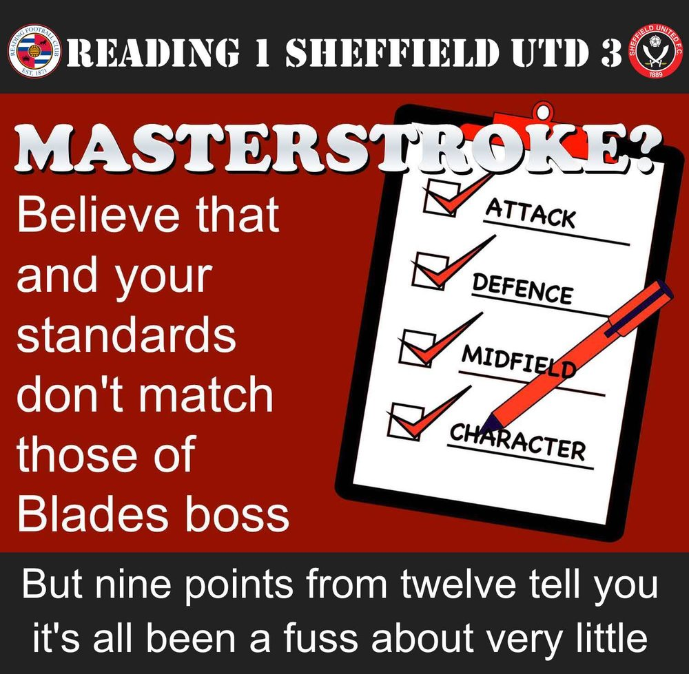 It seems that Sheffield United boss Chris Wilder's attack on Blades players has all been much ado about nothing
