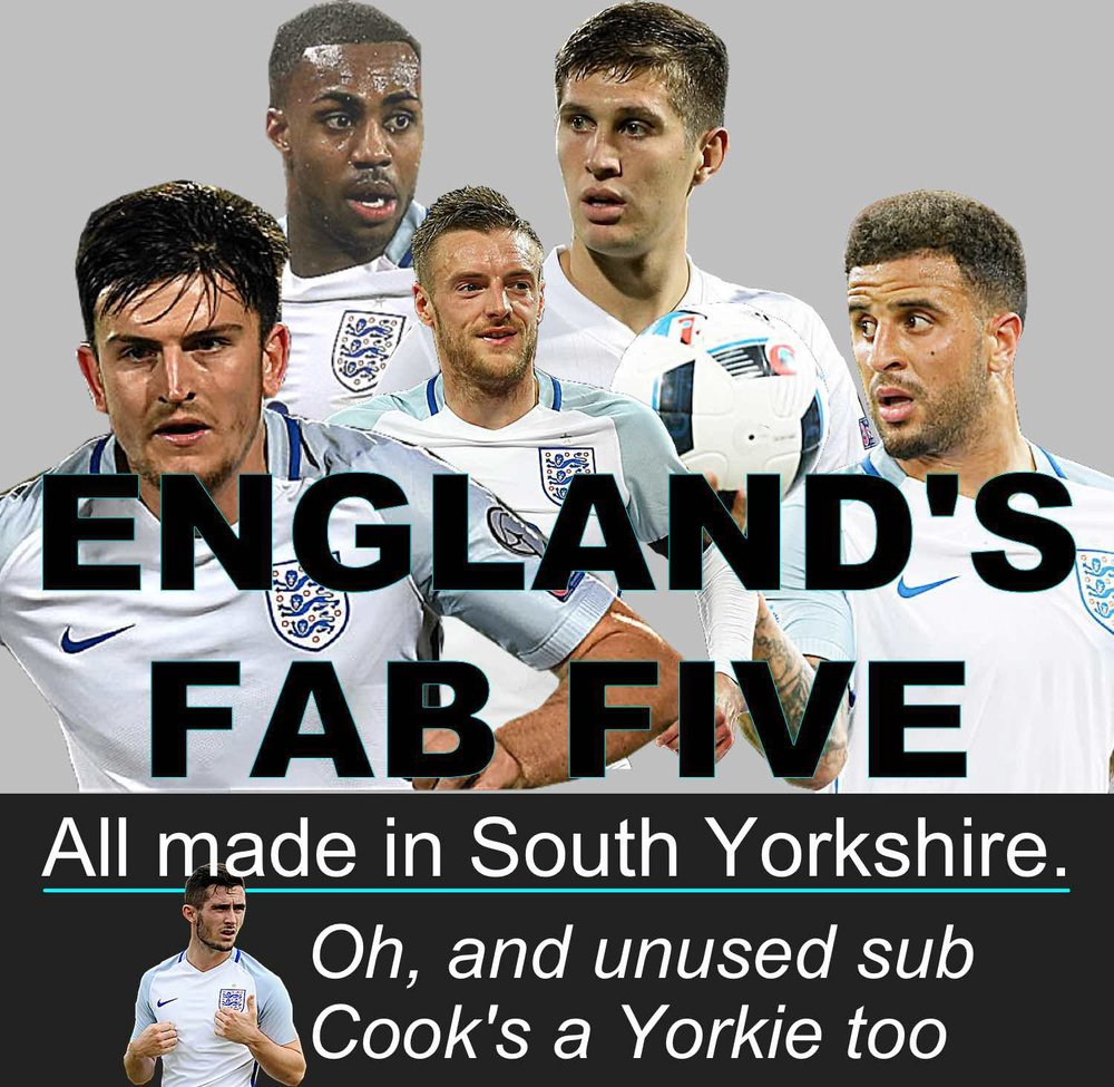 England fab five all made in South Yorkshire including former Sheffield United finds Harry Maguire and Kyle Walker
