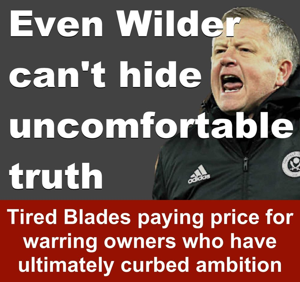 Sheffield United manager Chris Wilder can't hide uncomfortable truth after Blades blow at Birmingham