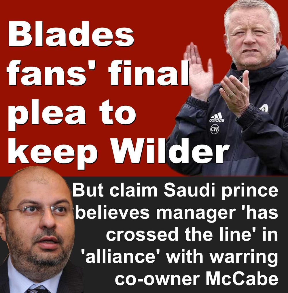 Sheffield United boss Chris Wilder 'has crossed the line' in claimed alliance with Bramall Lane co-owner Kevin McCabe