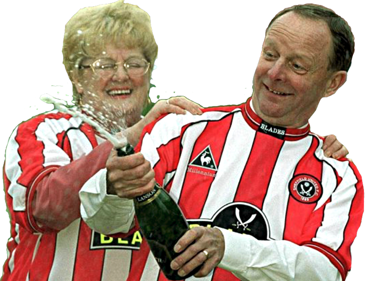 TOP OF THE POPS:  BARBARA WRAGG AND HUSBAND RAY CELEBRATING THEIR LOTTERY WIN IN 2000.
