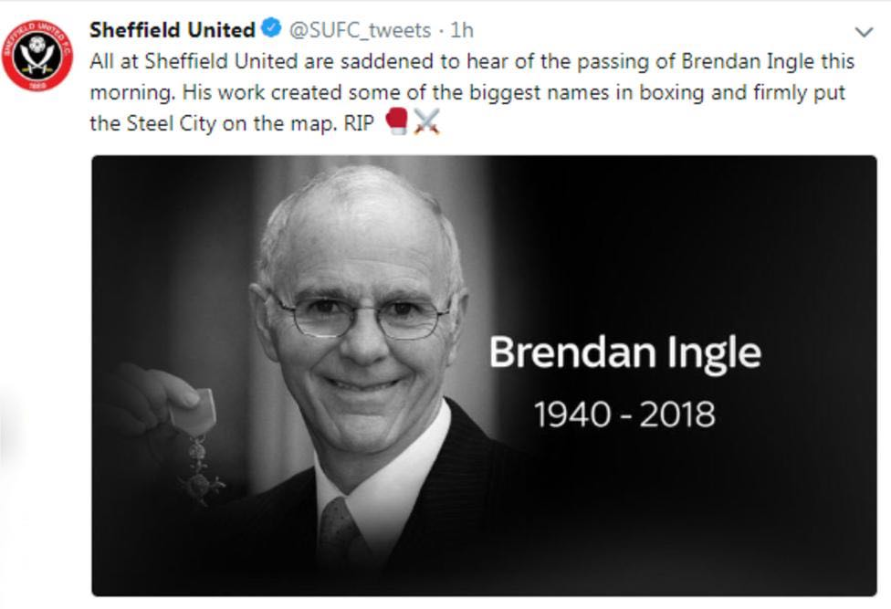 Condolences from Sheffield United