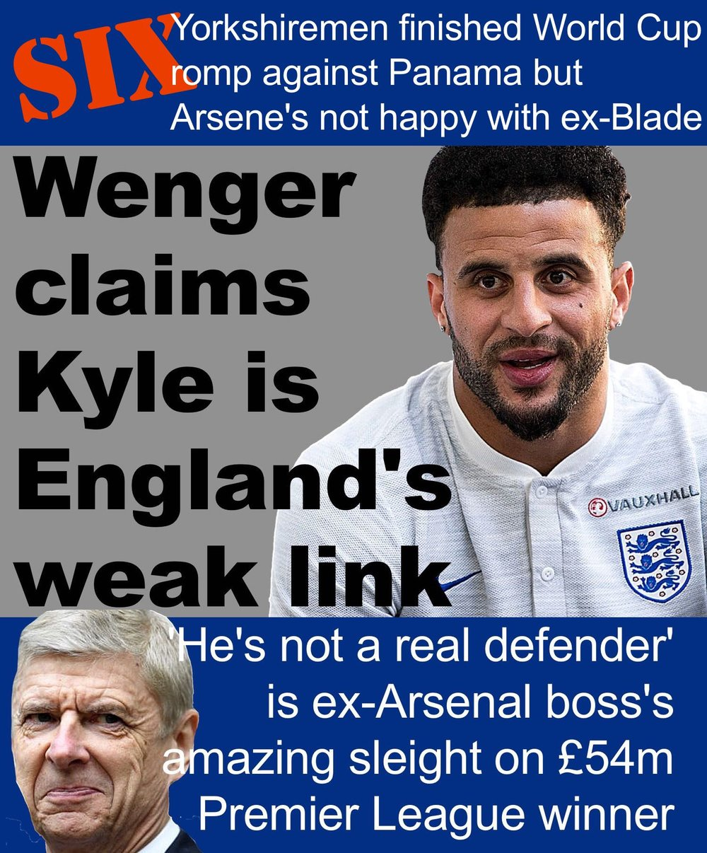 England World Cup defender and former Sheffield United star Kyle Walker has come under an extraordinary attack from ex-Arsenal boss Arsene Wenger.