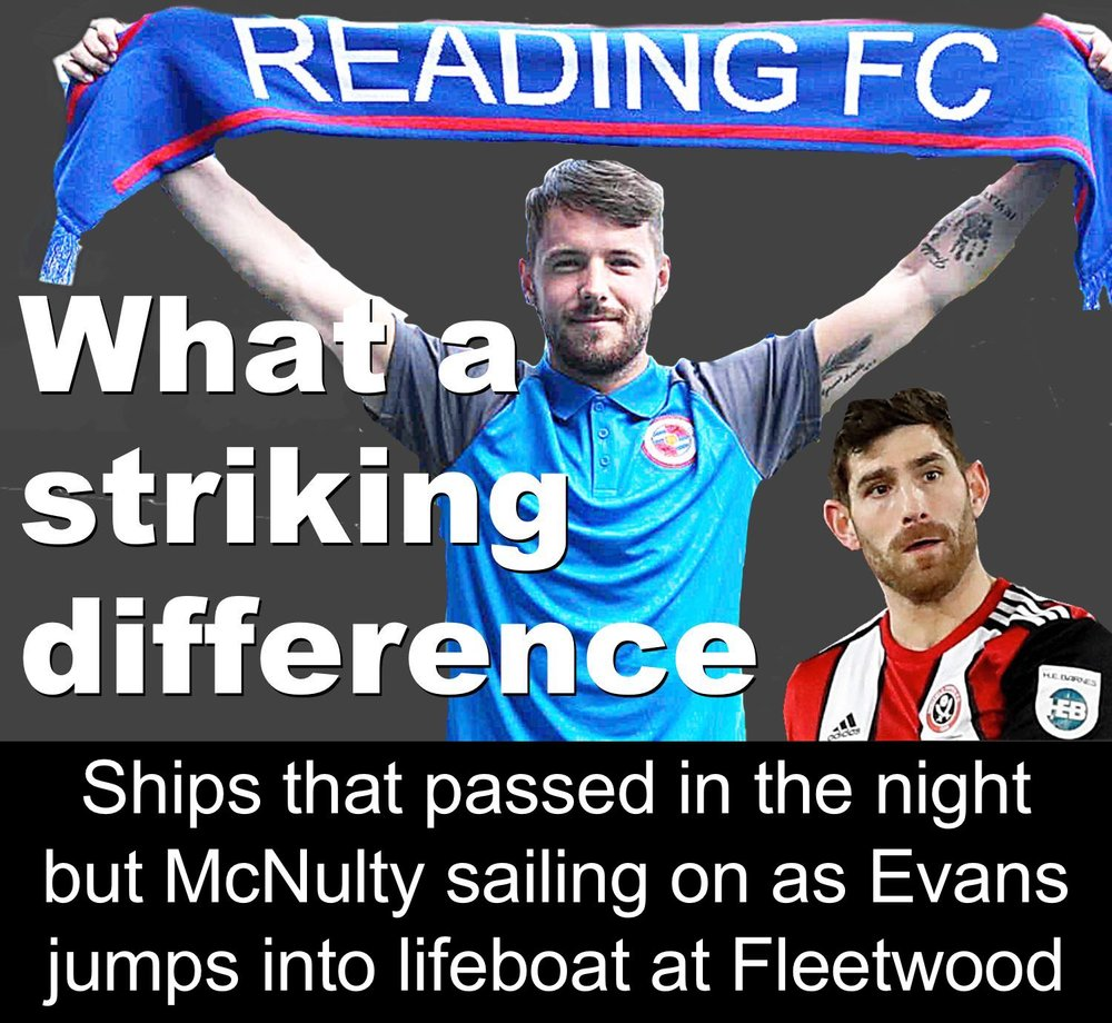 Tale of two former top scorers for Sheffield United, Ched Evans and Marc McNulty, the ex-Blade who is beginning a new chapter of his career at Championship Reading