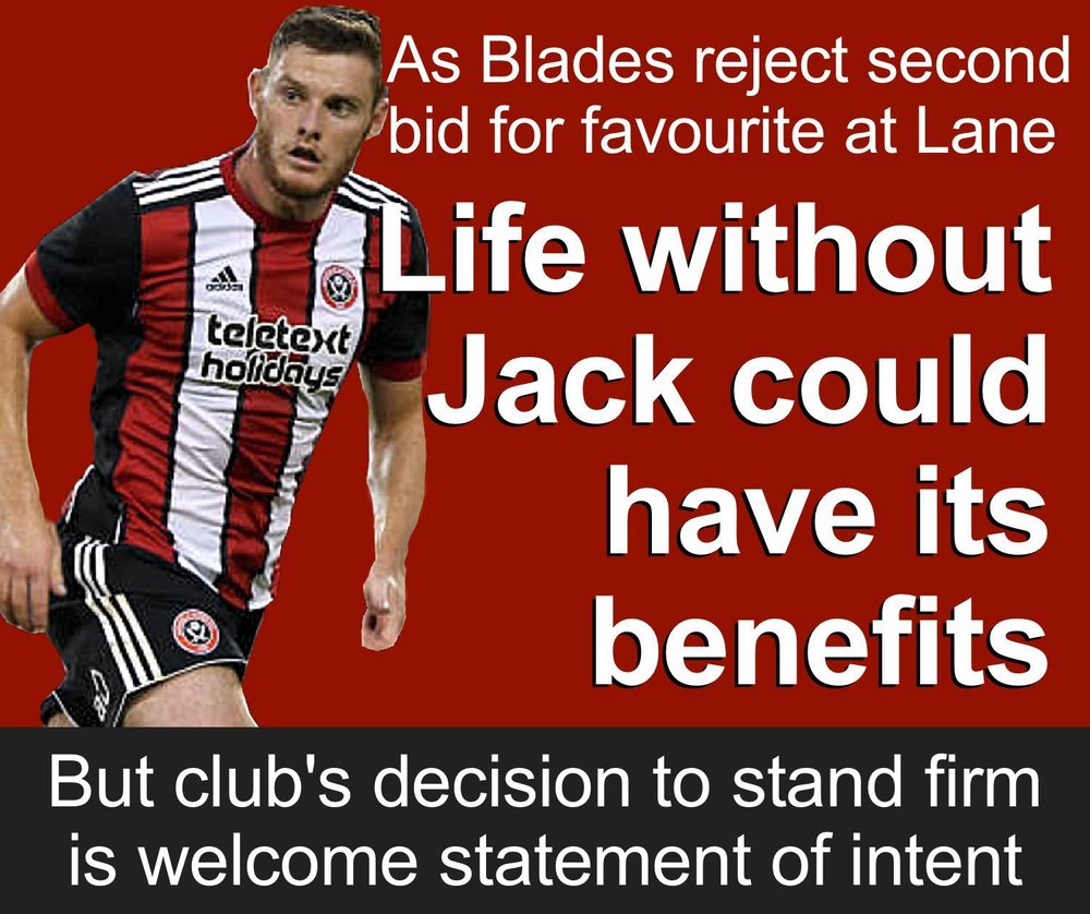 Sheffield United have rejected a second bid from Brighton for Blades defender Jack O'Connell. But life without the 24-year-old at Bramall Lane could have its benefits