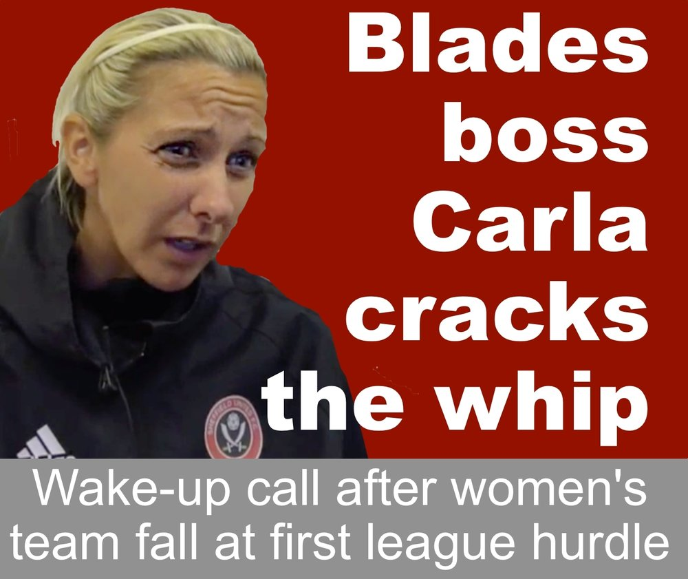 Sheffield United Women's boss Carla Ward issues challenge after her players fail at first league hurdle.