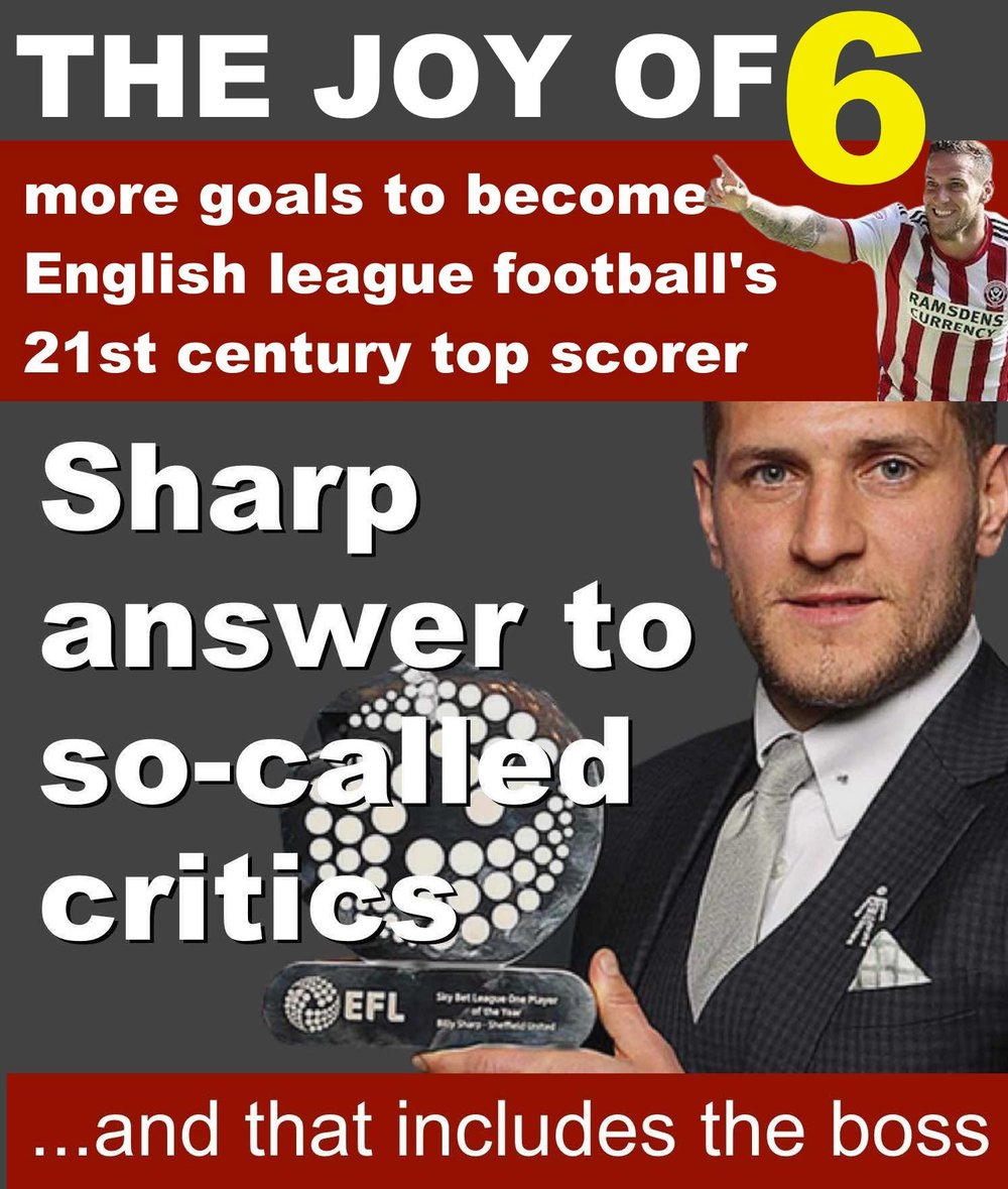 Sheffield United skipper Billy Sharp is answering all the doubters, including his boss Chris Wilder, by letting his goalscoring do the talking at Bramall Lane