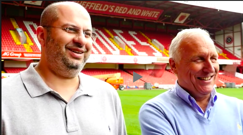 ALL SMILES: But not any longer. Sheffield United co-owners Prince Abdullah and Kevin McCabe CONTINUE a bitter and protracted power struggle which is impacting on manager Chris Wilder