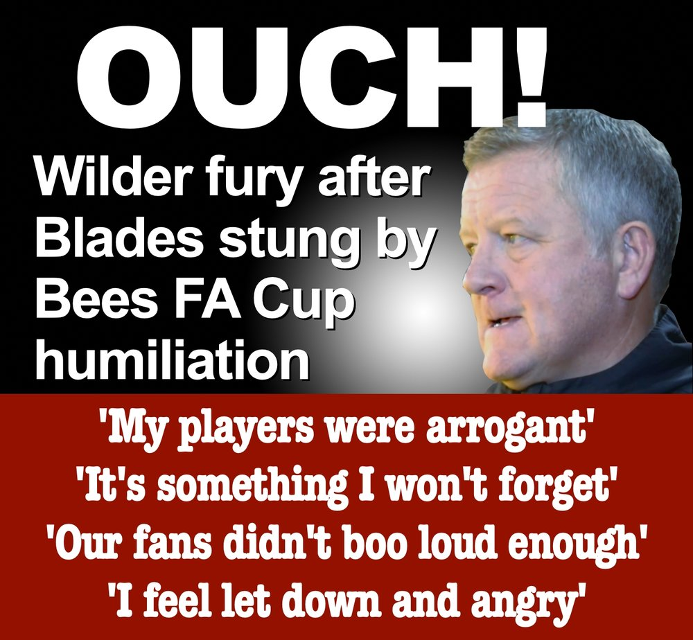 Sheffield United boss Chris Wilder blasts players after FA Cup humiliation against non-league Barnet at Bramall Lane