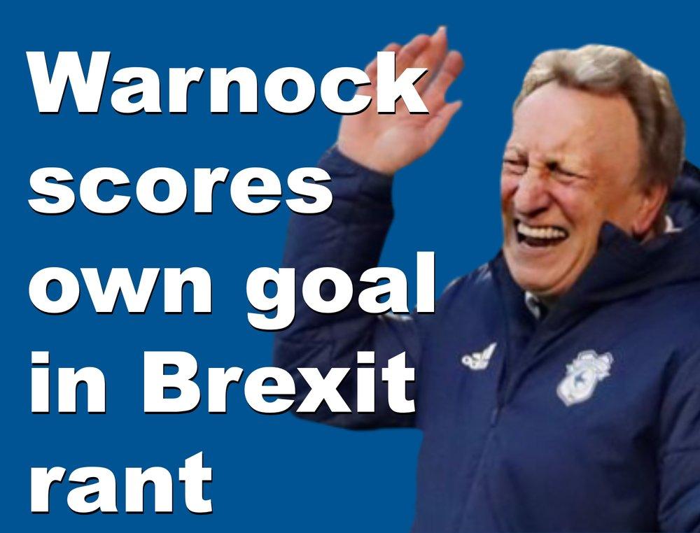 Fomer Sheffield United boss Neil Warnock scores own goal in Brexit rant