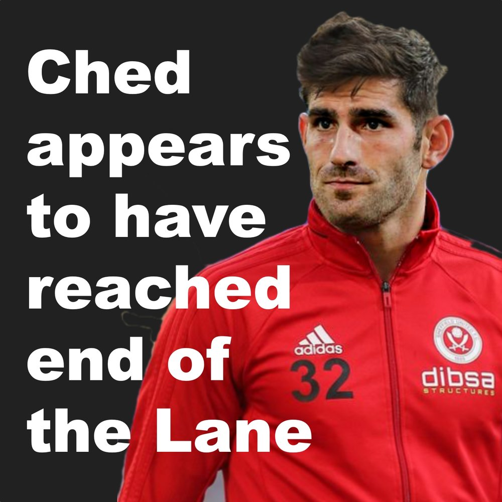There appears no way back for Sheffield United striker Ched Evans as high flying Blades leave him behind