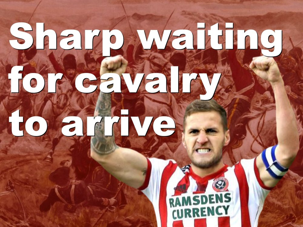 Sheffield United striker Billy Sharp waiting for cavalry to arrive at Bramall Lane in bid to solve Blades strike problem