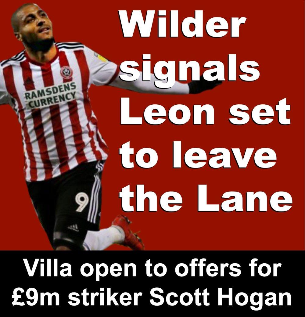 Sheffield United striker Leon Clarke set to leave Bramall Lane as Blades show interest in £9million Aston Villa striker Scott Hogan