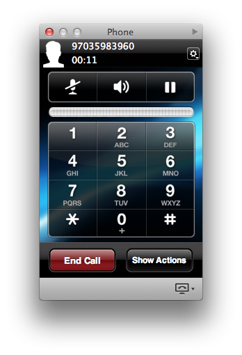 Call is made/received on Jabber