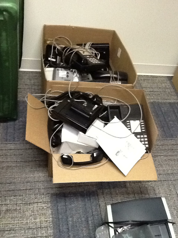 Boxes of phones
