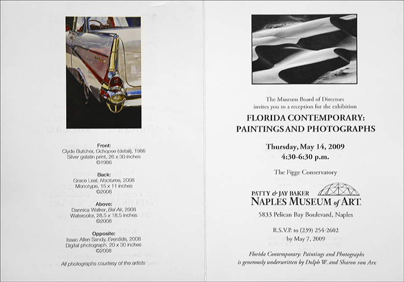 """Florida Contemporary: Paintings and Photographs"" Naples Museum of Art, May through June 2009"