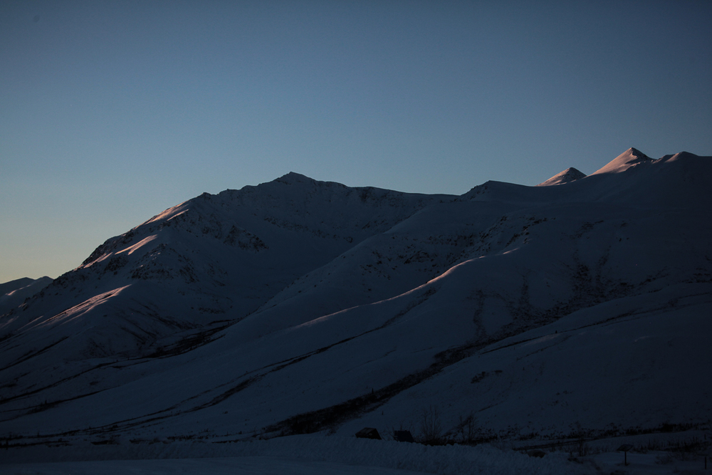 Alpenglow on the Dempster Highway