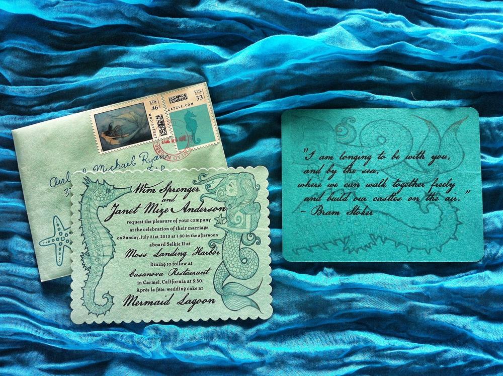 Wedding invitation design and illustration