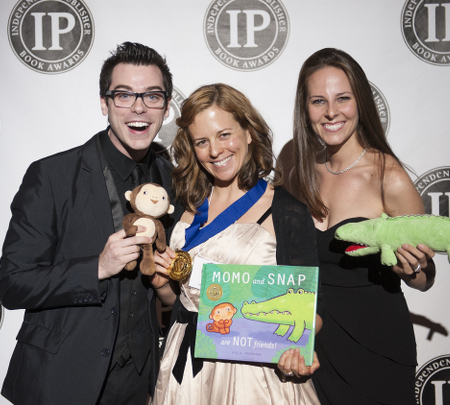 Airlie (center) at the Independent Publishers Award ceremony in New York City.