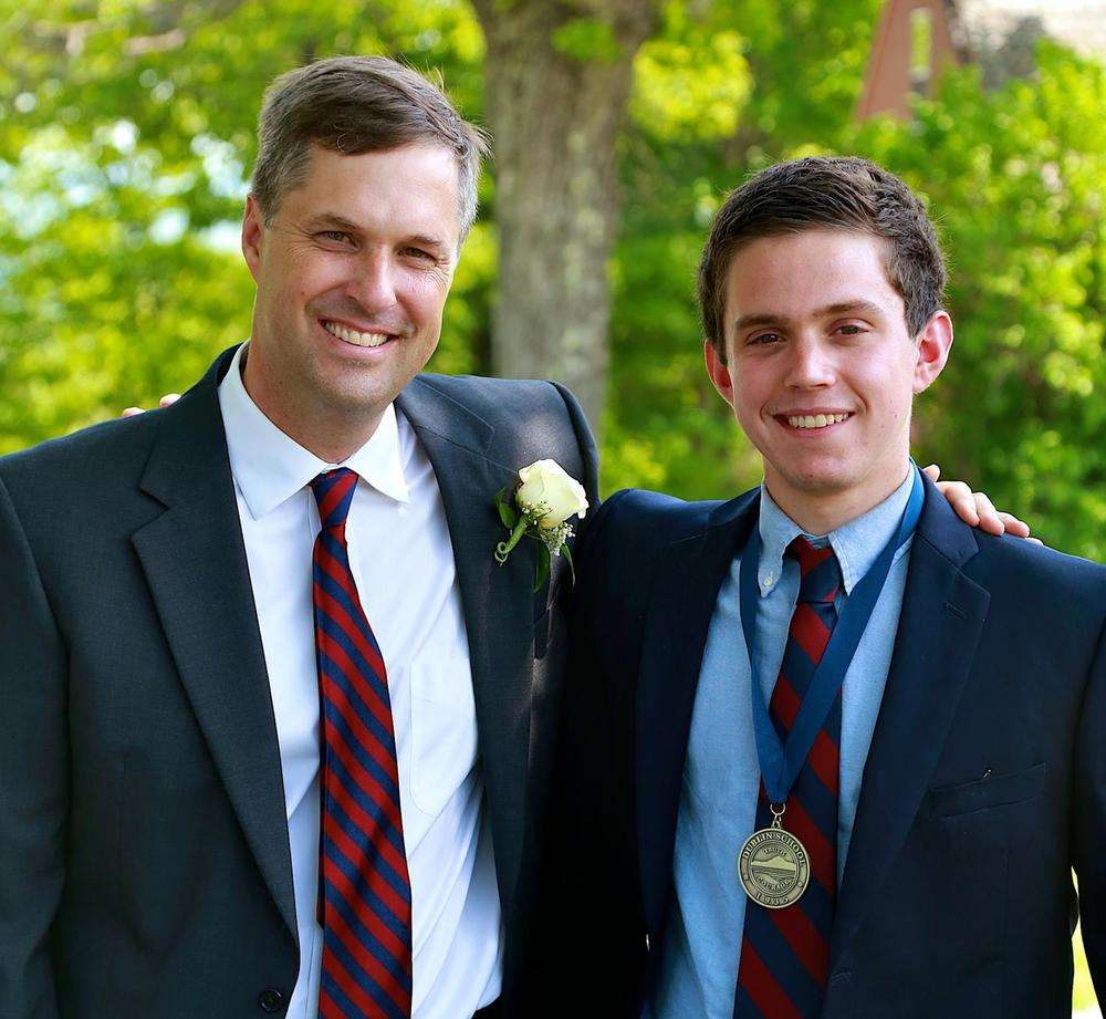 Head of School Brad Bates with Lehmann Award Winner William Utzschneider