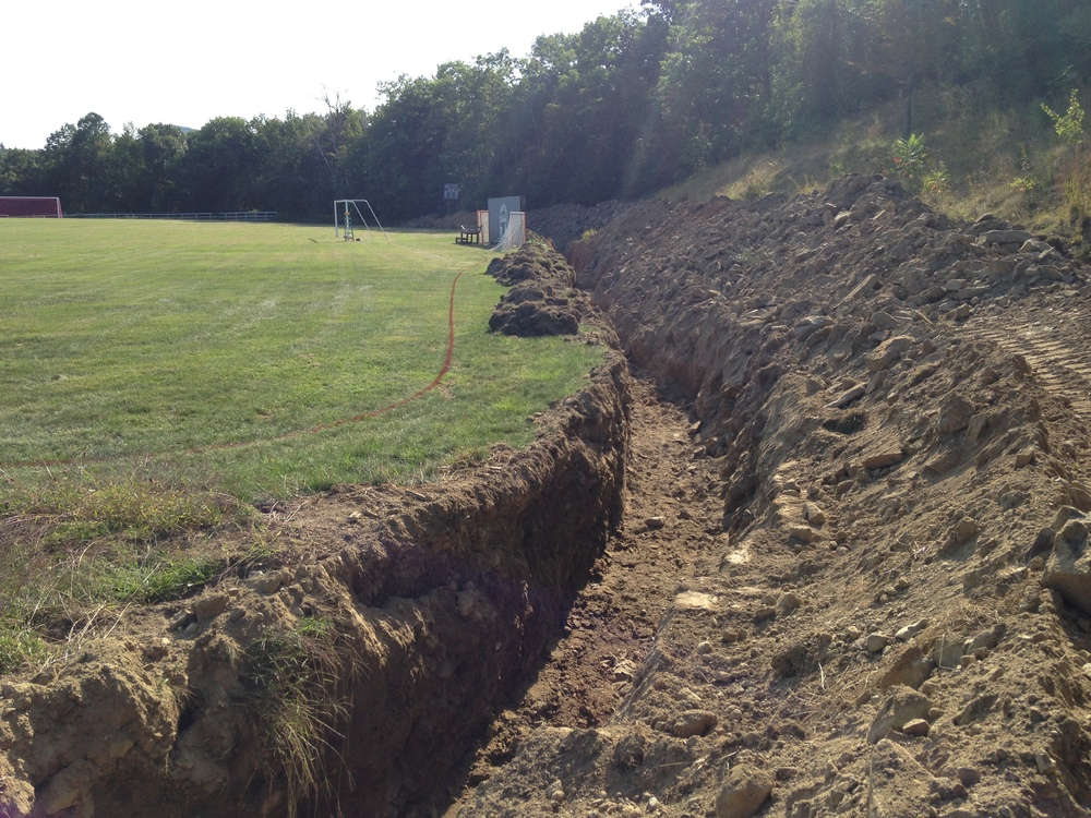 The Trench along the side of Memorial Field--which will have three snowmaking guns.