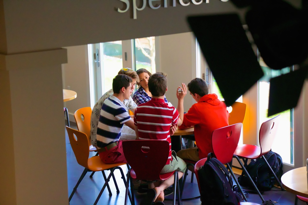 Students in the William Spencer Student Center
