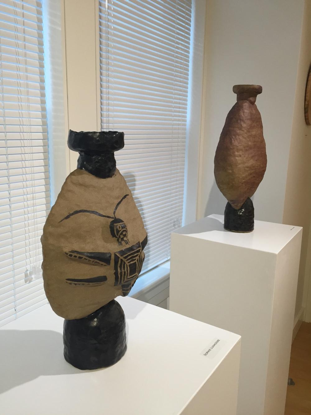 Faculty art work in the Putnam Gallery