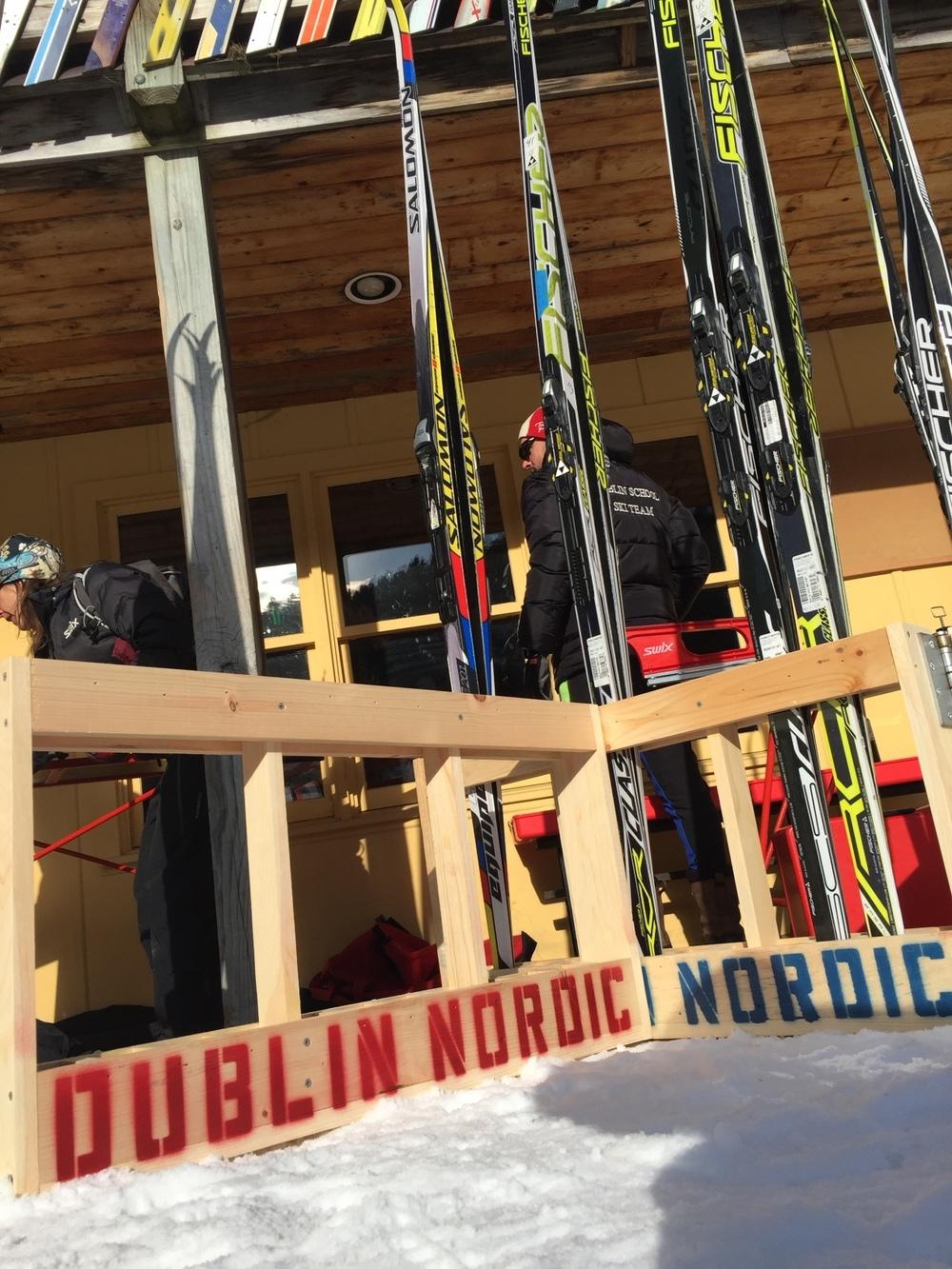 George Henry's ski racks.
