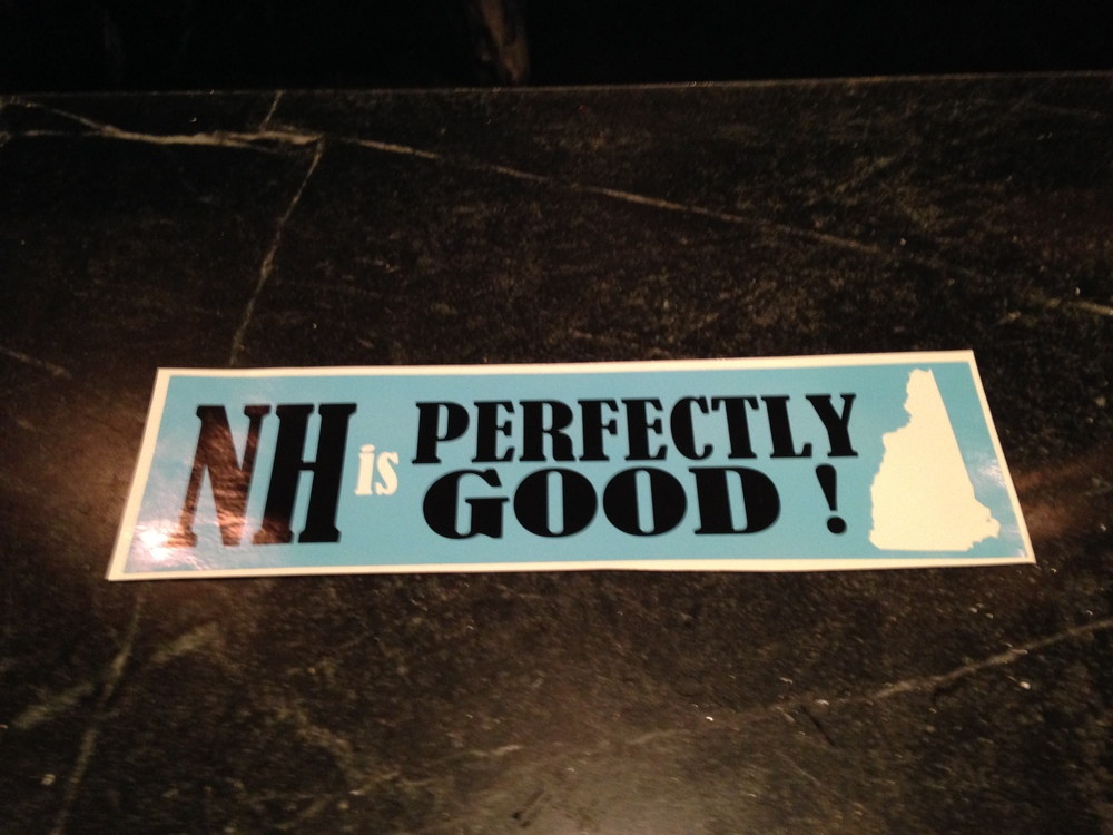 Yankee Publishing CEO Jamie Trowbridge's bumper sticker.
