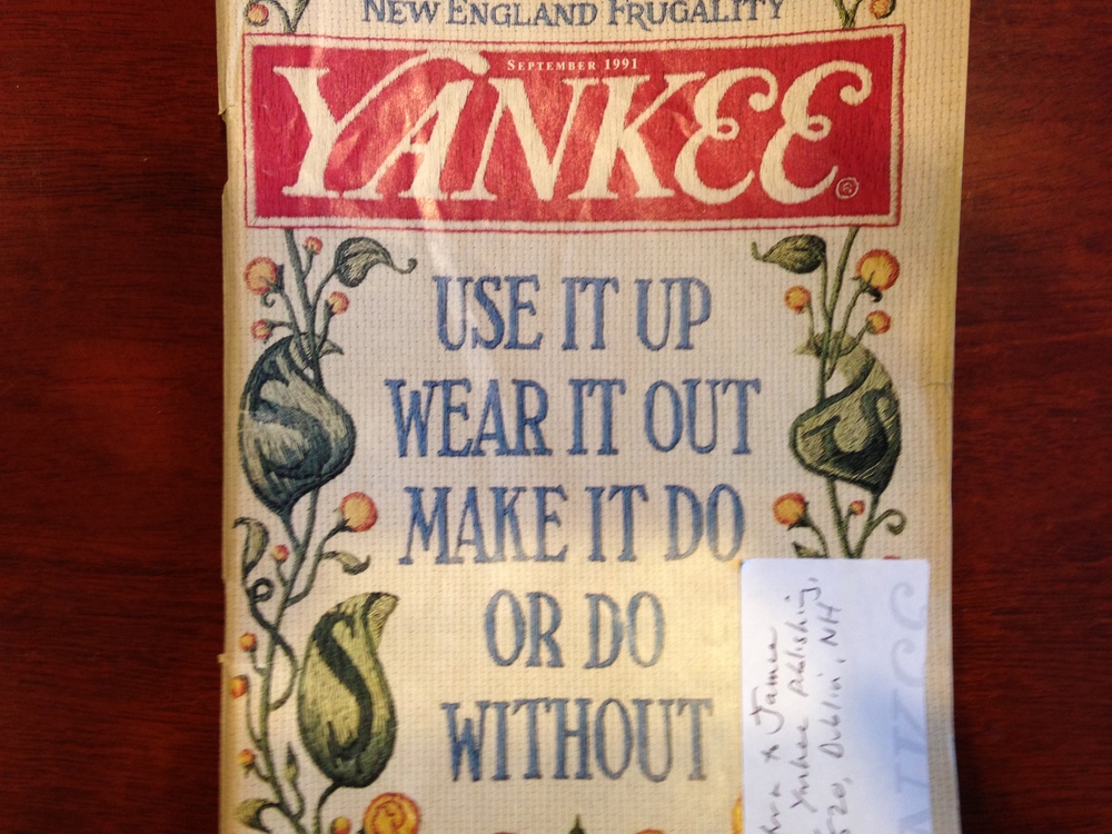 Yankee Magazine's frugality issue.