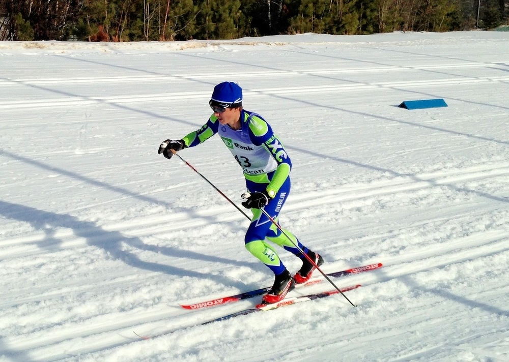 Calvin Bates racing in Lake Placid.