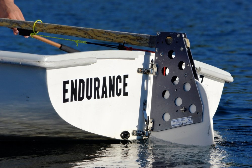 """Endurance,"" one of Dublin's newest boats, helps keep sailors aligned with a vital part of Dublin's athletic program."
