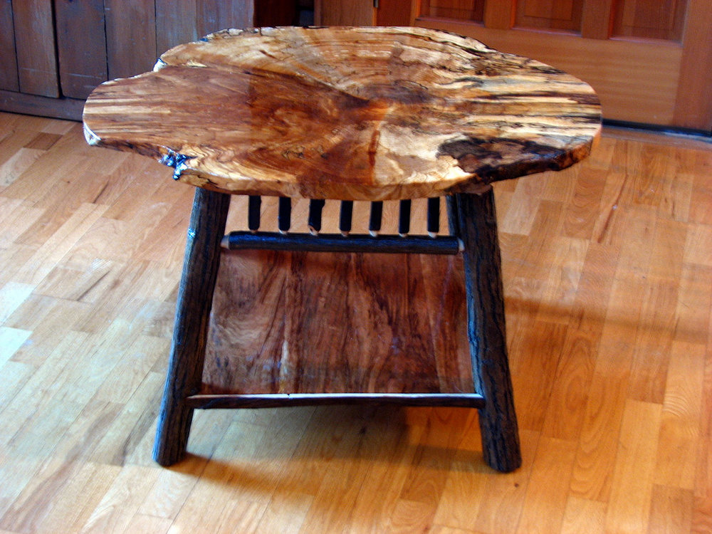 Black Birch Burl table by Curt Wright - http://rusticinspirations2.wixsite.com