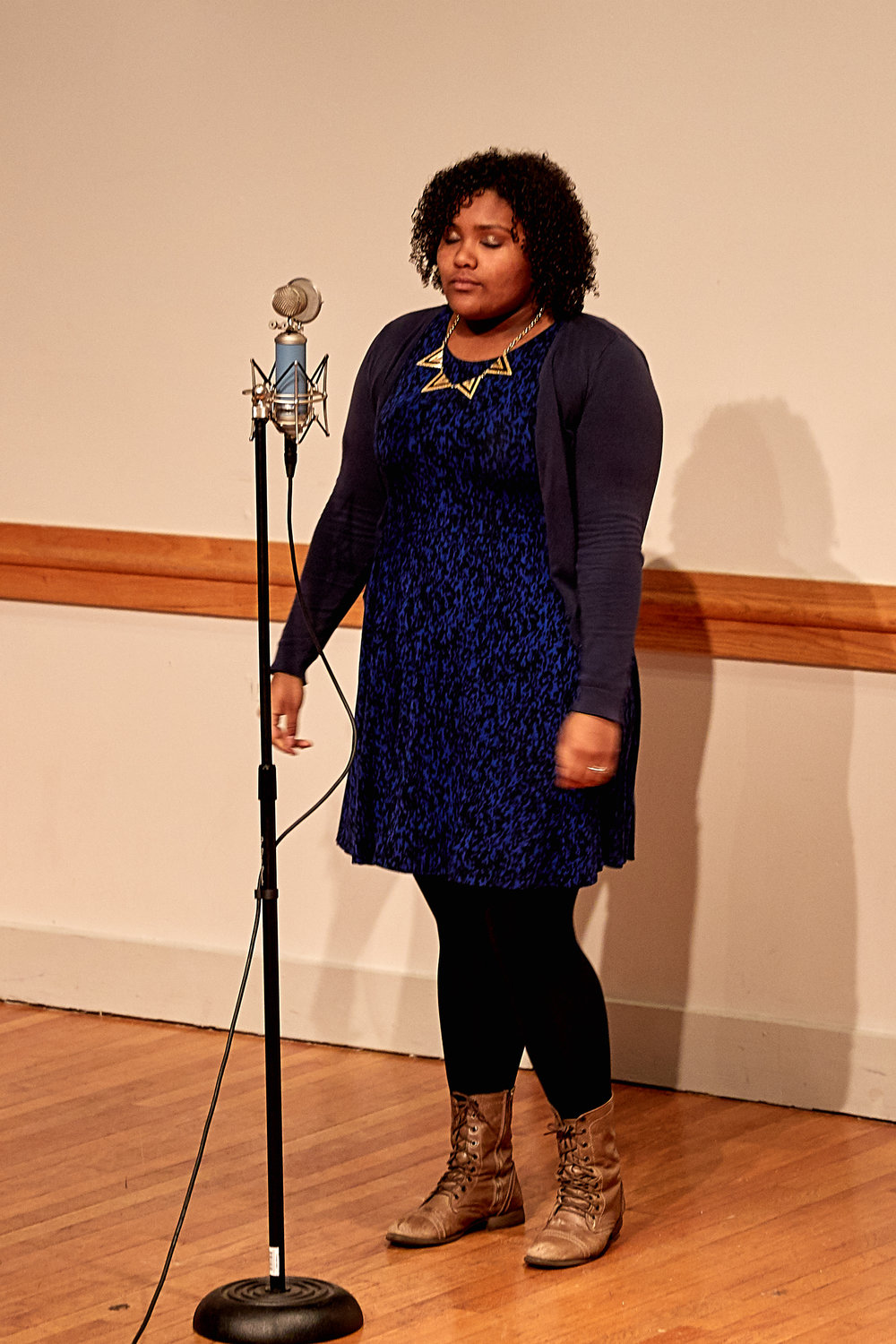 Destiny Goncalves (Brockton, MA)competing in Poetry Our Loud festival.