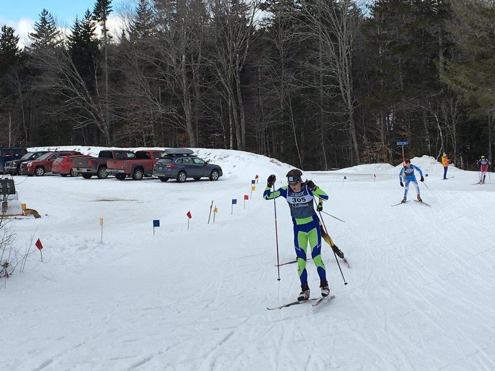 Calvin in the 15km Skate race.