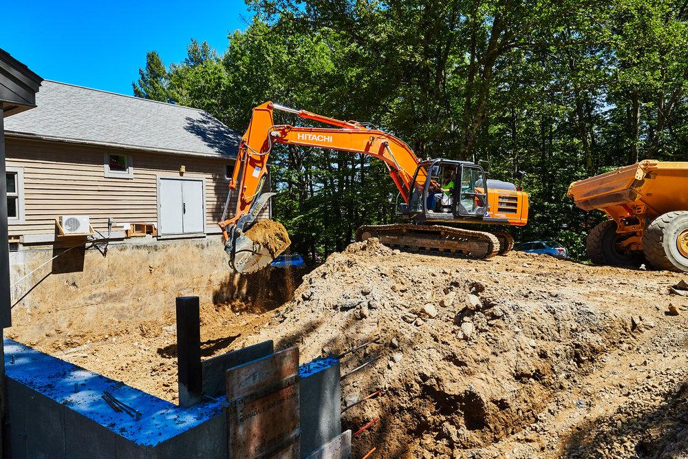 Excavation for Dublin School PRISM Center expansion.