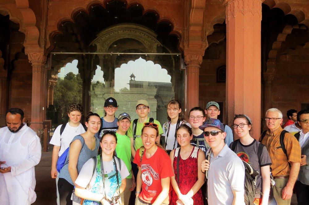 Entering Red Fort