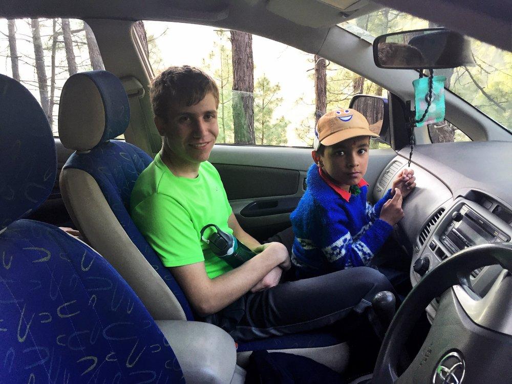Hitching a ride to Chaukori