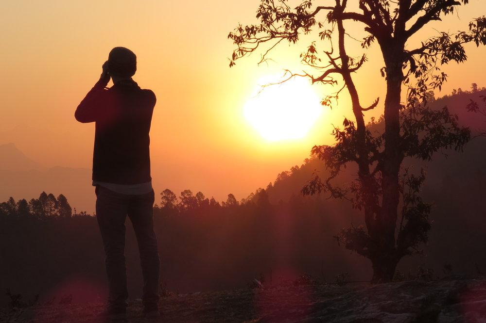 Sunrise birding with Mr. Walters.