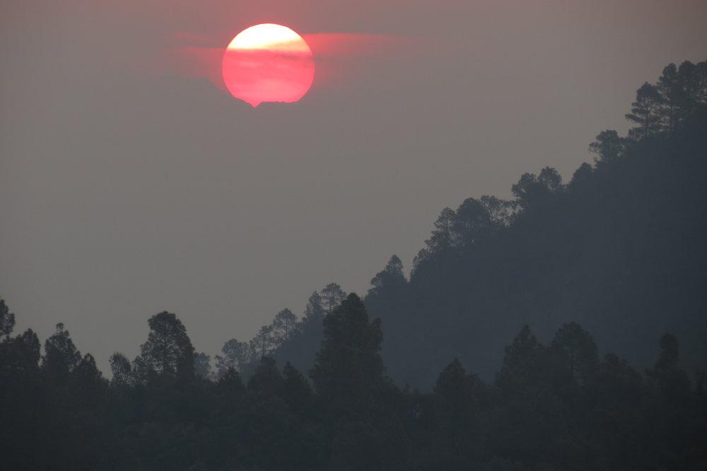 Sunrise through the haze.