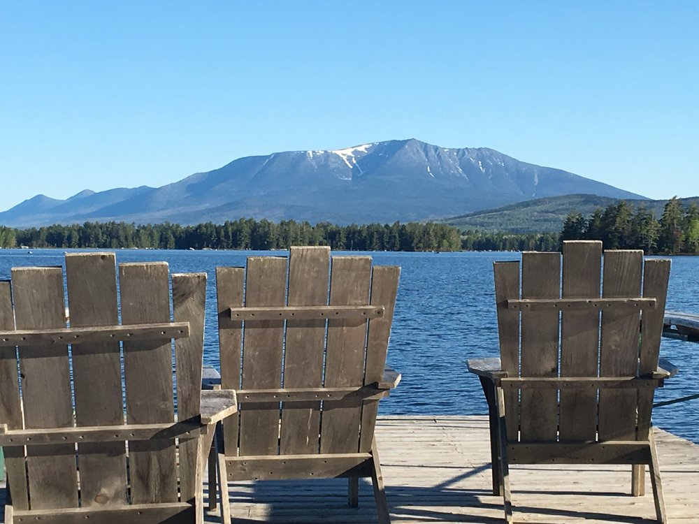 The New England Outdoor Center and Mount Katahdin.