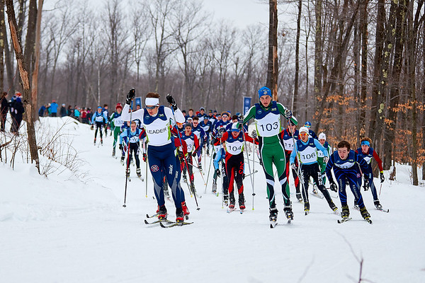 Racing at the Dublin School Nordic Center.