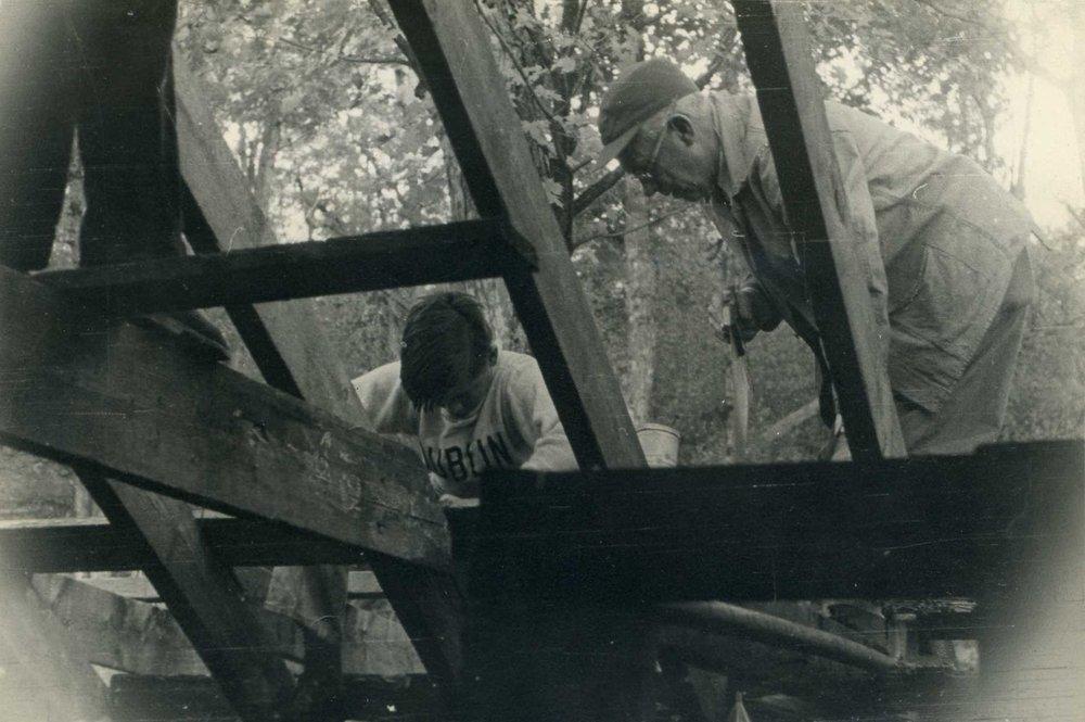 Paul Lehmann with a student.