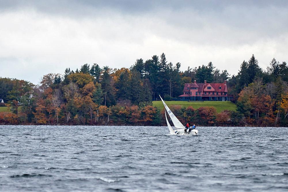 Sailing practice on Dublin Lake.